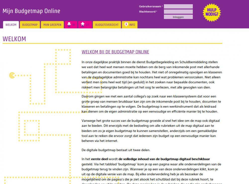 Budgetmap homepage