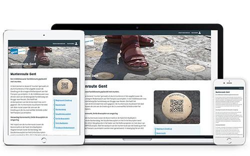 Muntenroute responsive website
