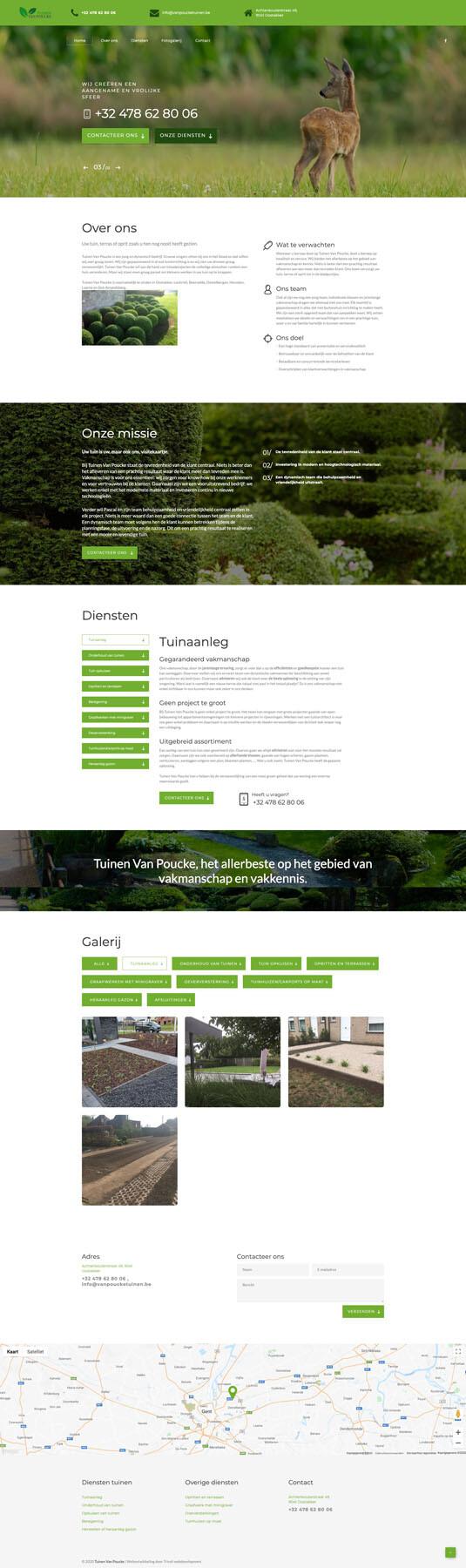 Webdesign en zoekmachine-optimalisatie voor Tuinen Van Poucke