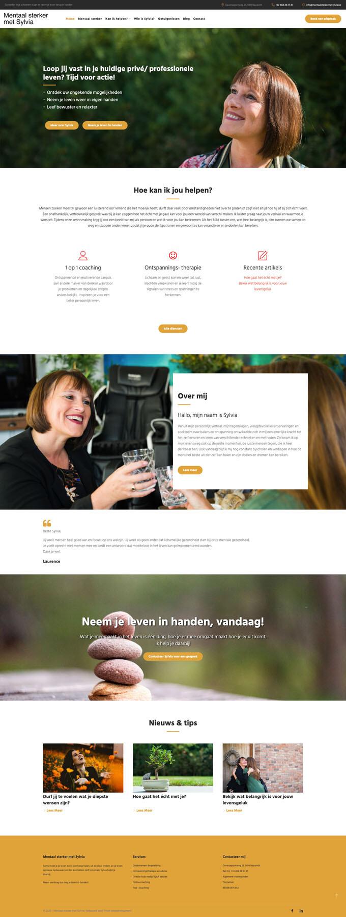 Super persoonlijk webdesign en online afsprakenbeheer voor Sylvia